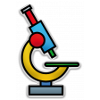 The Mad Scientist - Elements - Microscope - Sticker
