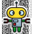 The Mad Scientist - Elements - Robot - Sticker