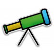 The Mad Scientist - Elements - Telescope - Sticker