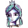 Mixed Media 3 - Stamps - Princess - Color