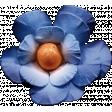 Mixed Media 5 - Elements - Blue Flower
