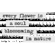 Mixed Media 5 - Elements - Word Art - Every Flower