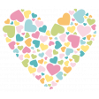 Love You Miss You - Minikit - Heart Sticker