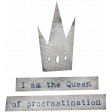 Mixed Media 6 - Elements - Word Art - Queen
