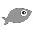 Fish Sticker Template