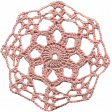 Jane - Pink Crochet Doiley