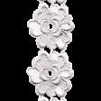 Jane - White Embroidered Flower Border