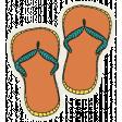 Summer Splash - Stickers - Flipflops