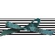 Summer Splash - Elements - Teal Bow