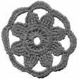 Crochet Flowers - Templates - Crochet05 - Sunflower