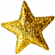 Sweet Dreams - Elements - Gold Glitter Star