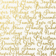 Christmas Day - Papers - Words - Vellum Overlay
