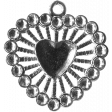 Heart Charms - Template - Heart 5