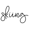 Winter Day Word Art – Skiing Sticker