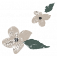 Winter Day Cards Elements - Beige Flower Glitter