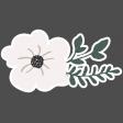 Winter Day Elements - Cream Flower
