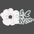 Winter Day Elements - Cream Flower Glitter