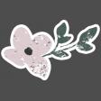 Winter Day Elements - Pink Flower Glitter