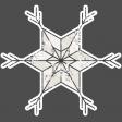 Winter Day Elements - Star 1 Glitter
