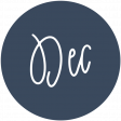New Day Month Labels - Navy Blue December