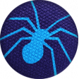 Bootiful - Fabric Button - Spider