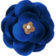 Reflections At Night - Blue Paper Flower With Pearl
