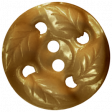 Be Bold Elements - Brown Leaf Button