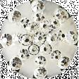 Be Bold Elements - Metallic Silver Gem Button