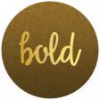 """Be Bold Elements - Brown And Gold """"Bold"""" Tag"""