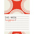 Be Bold Journal Cards - Orange, White, And Black  3x4 Doily Card - Card 1