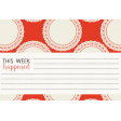 Be Bold Journal Cards - Orange, White, And Black  4x6 Doily Card - Card 1