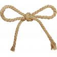 A Little Sparkle {Elements} - Brown Twine Bow