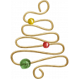 A Little Sparkle {Elements} - Gold Metal Christmas Tree With Beads