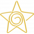 A Little Sparkle {Elements} - Gold Star Paperclip