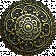 A Little Sparkle {Elements} - Gold Metal Ornate Button