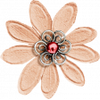 A Little Sparkle {Elements} - Peach And Pink Paper Flower