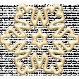 A Little Sparkle {Elements} - Cream Plastic Snowflake