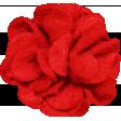 A Little Sparkle {Elements} - Red Felt Flower