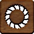 A Little Sparkle {Elements} - Wooden Block With Wreath Cutout