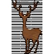 A Little Sparkle {Elements} - Wooden Deer