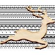 Christmas Day Elements - Wooden Deer