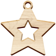Christmas Day Elements - Wood Star