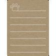 Toolbox Calendar 2 - General Doodled Journal Card - Paw Print