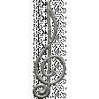 Toolbox Calendar - Metal Treble Clef Doodle