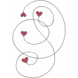 A Mother's Love - Heart Swirl Doodle 4 - Red and Black