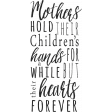 A Mother's Love - Word Art Phrase - Hands