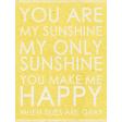 Summer Day - Sunshine Word Art Journal Card