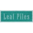 Enchanting Autumn - Leaf Piles Word Art