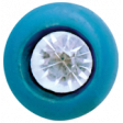 All the Princesses - Teal Button 2