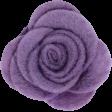 Cozy Day - Purple Felt Flower